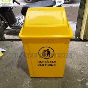 thùng rác 40 lít nắp lật