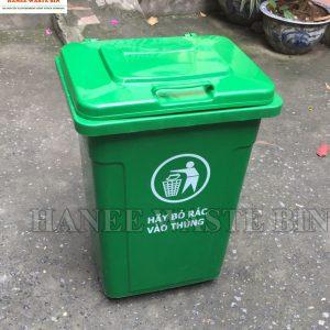 thùng rác 90 lít bánh xe