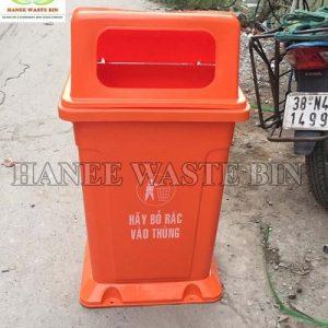 thùng rác 95 lít nắp hở