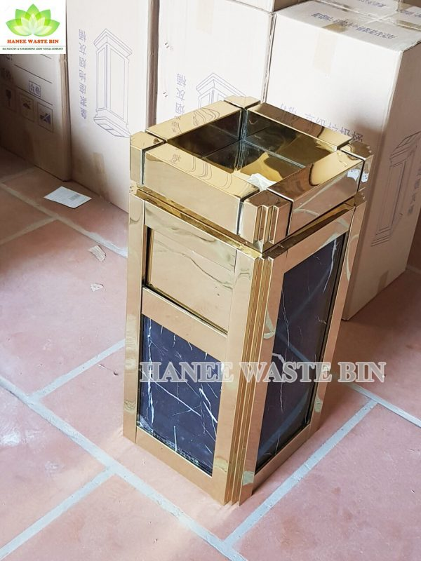 thùng rác đá hoa cương A16