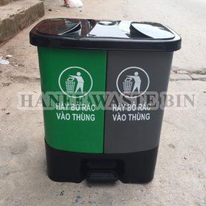 thùng rác hai ngăn