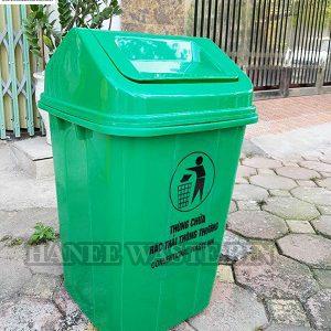 thùng rác nhựa 60 lít bập bênh