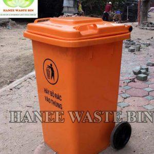thùng rác nhựa 100 lít màu cam