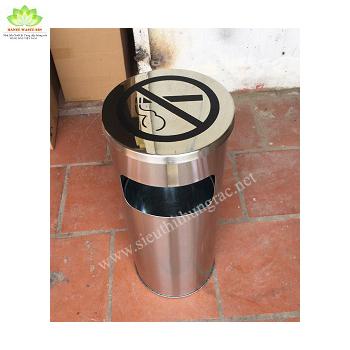 thùng rác cấm hút thuốc lá
