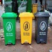 thùng rác đạp chân 60 lít