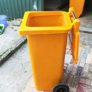 thùng rác composite 120 lít vàng