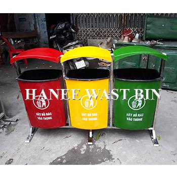 thùng rác treo ba